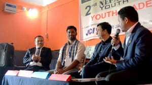 Speaking to international youth leaders perticipate